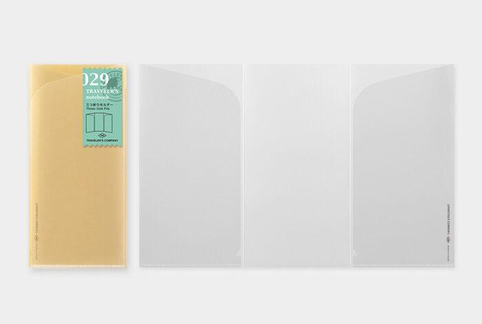 TRAVELER'S notbook Refill Three-fold File/リフィル三つ折りホルダー