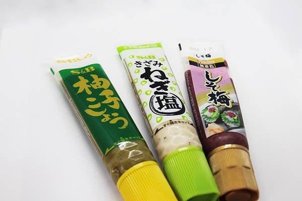 柚子胡椒→蔥鹽→紫蘇梅