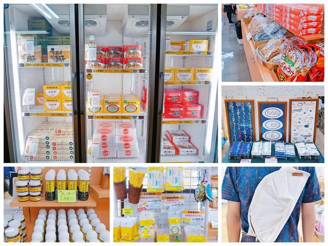 ▲還有販售冷凍餃子、沾醬、以及餃子造型周邊產品的土產店。