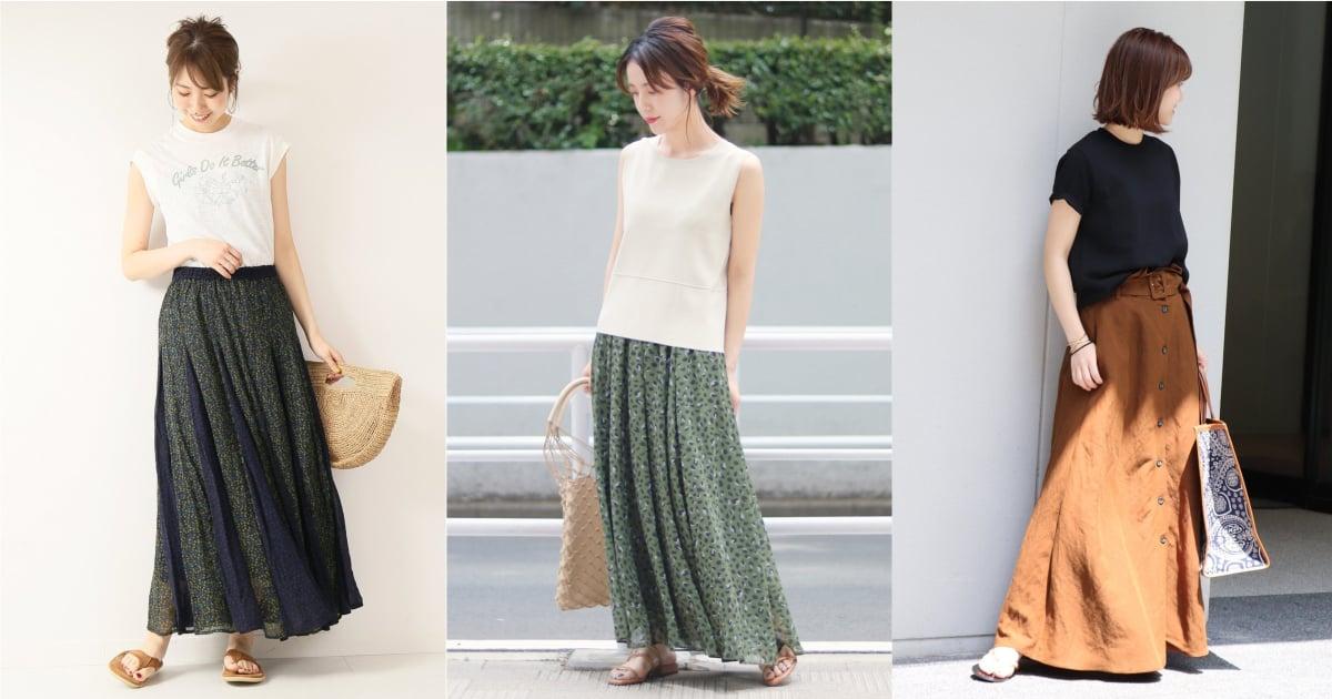 夏日最輕鬆的顯瘦穿搭!參考日本女生的「長裙造型」訣竅就能修身又時髦