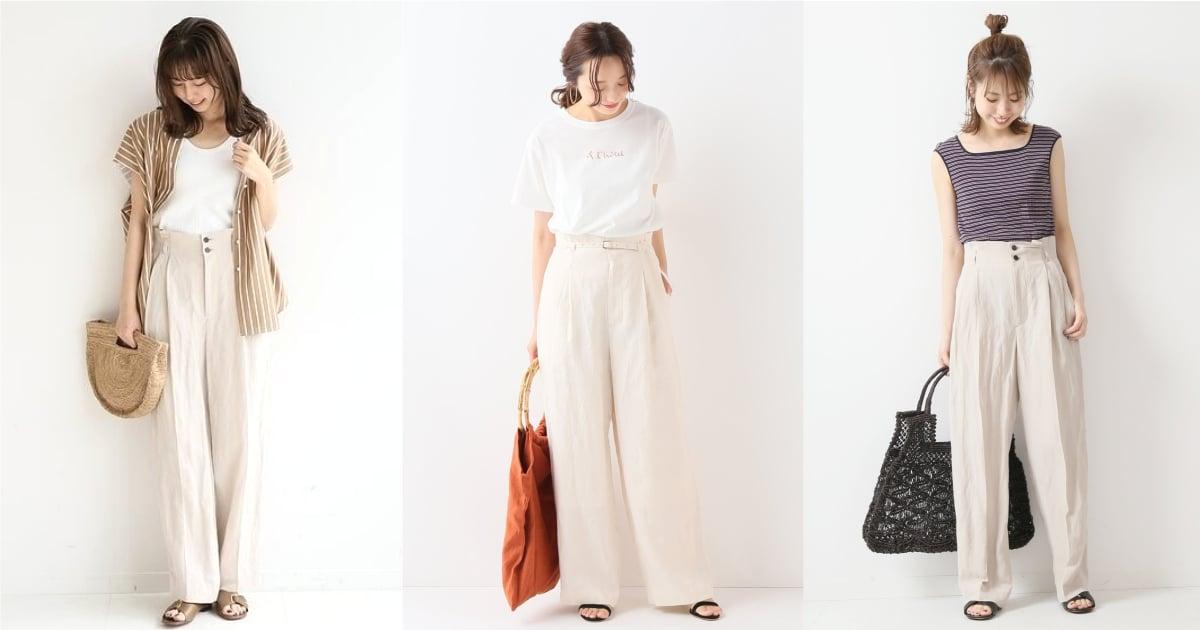 夏日清新小時髦都交給「奶茶色寬褲」!10 套都讓人好想直接換上的簡約好感造型