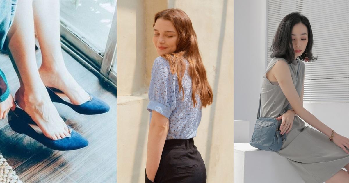 快換上盛夏的代表色!衣著配件就選用藍色單品表現夏日的清爽好感