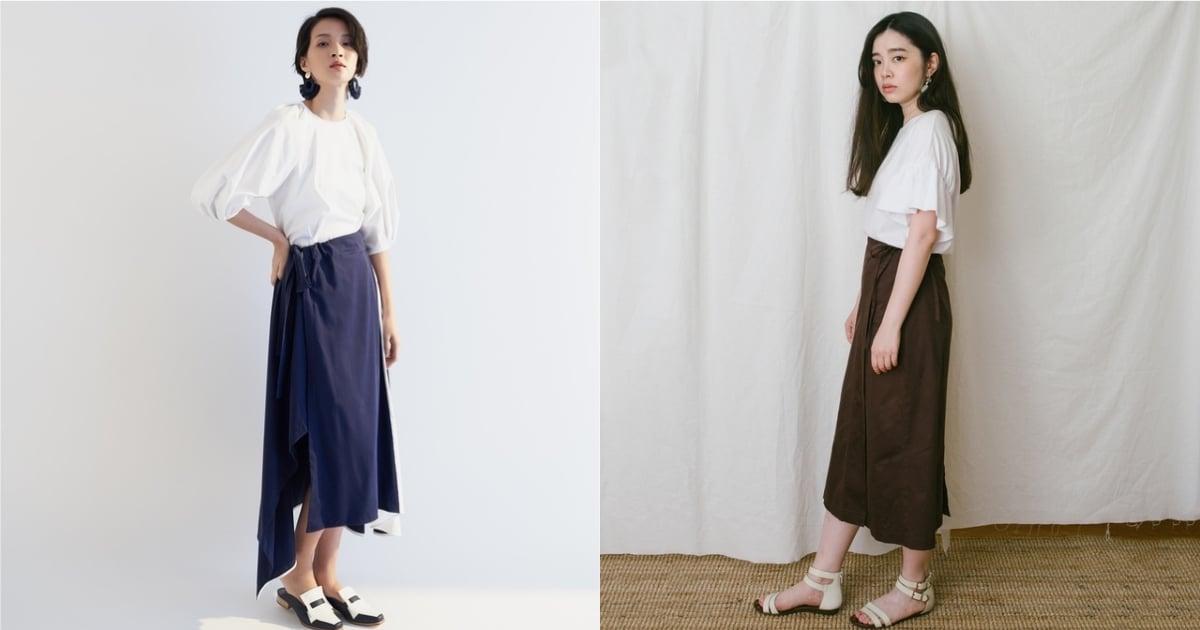 用設計感的下身營造穿搭獨特感!輕鬆就能擁有層次印象的綁帶造型裙 3 選